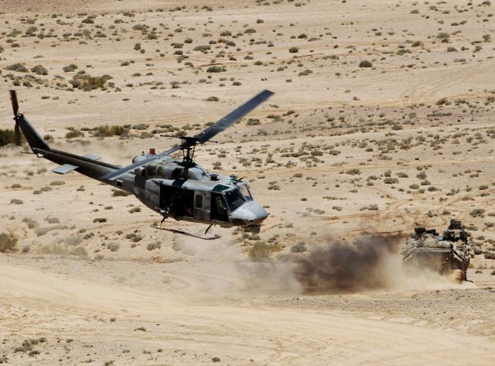 """Military forces participate in the """"Eager Lion"""" military exercises near Aqaba city, 290 km (180 miles) south of Amman"""