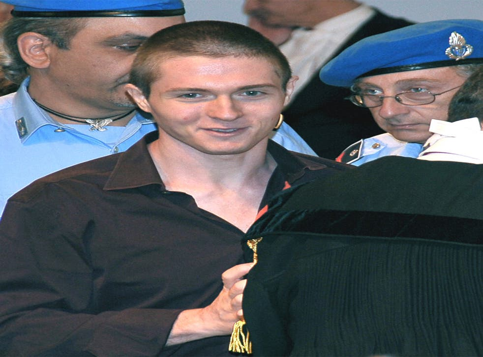 Rafaelle Sollecito was freed on appeal in 2011