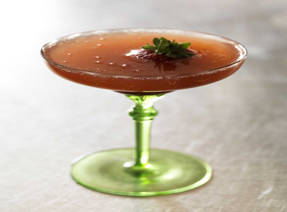 Simple and summery: Mark's strawberry Bellini
