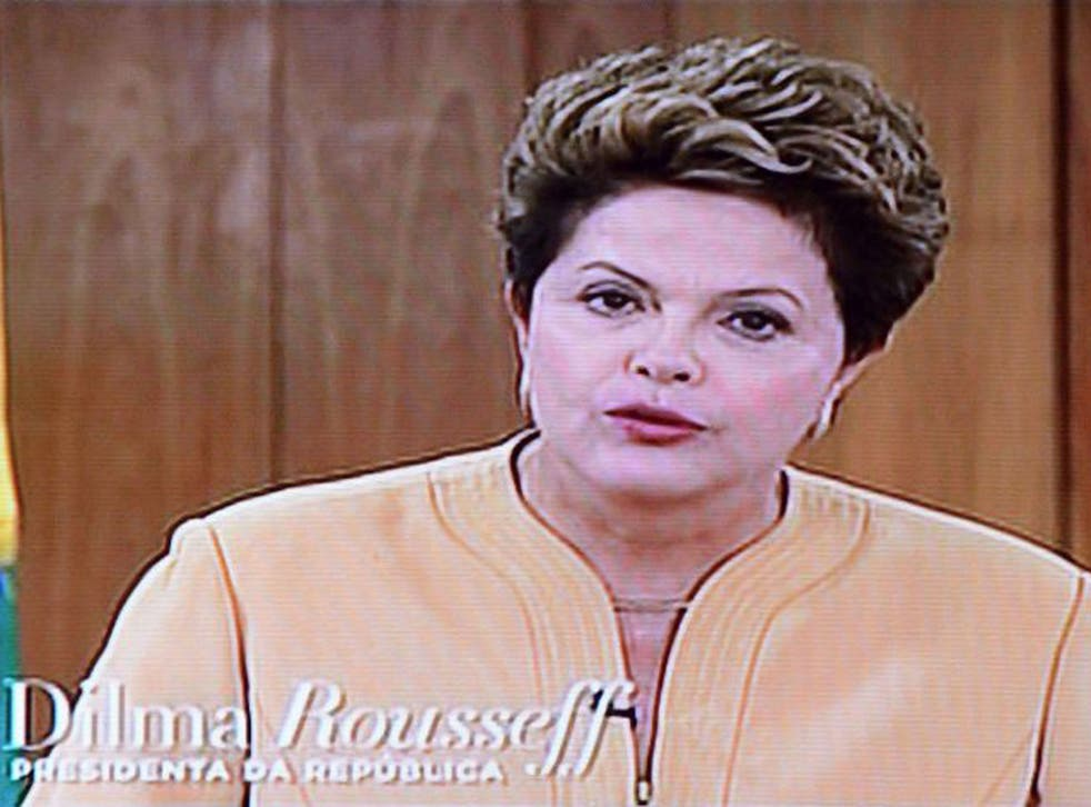 Rousseff promised to make improvements in urban transportation and to battle corruption, but offered few details as to how that will happen