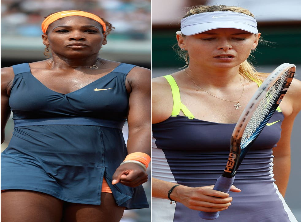 Serena Williams, left, and Maria Sharapova, right, turn Wimbledon into a soap opera as they feud and apologise over their tangled love-lives