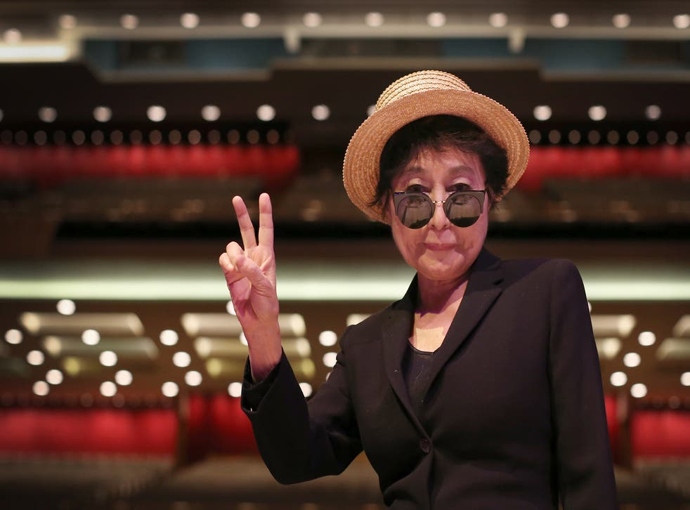 Yoko Ono at the Royal Festival Hall for Double Fantasy Live