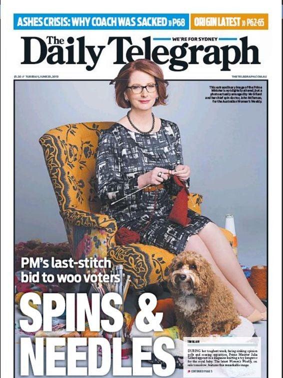 Kangaroo Knitting Pattern Julia Gillard : A last-stitch bid? Storm over photo of republican Australia PM Julia Gillard ...