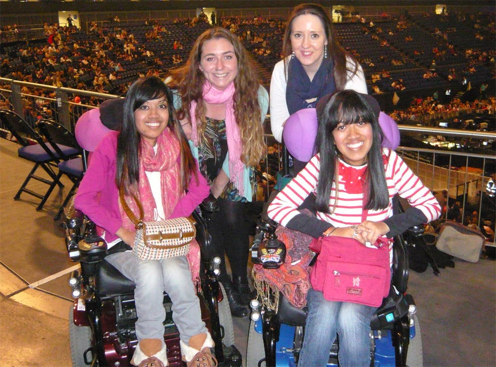 Laura, right, and Judith Merry, left, with friends to see Beyoncé's show