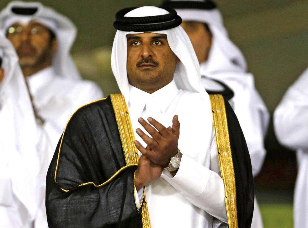 Sheikh Tamim (pictured) served by his father's side for several years before his 2013 abdication