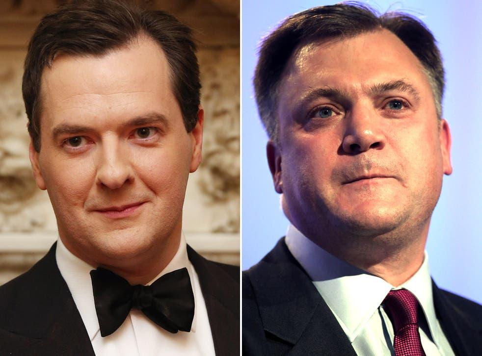 Chancellor George Osborne and the Shadow Chancellor, Ed Balls