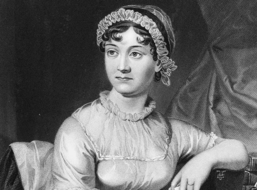 English novelist Jane Austen from an original family portrait.