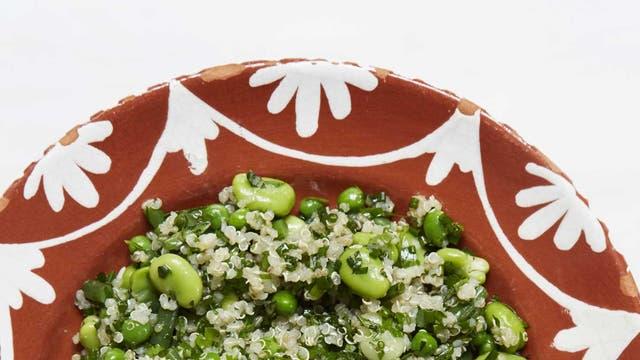 Versatile: Quinoa with summer beans