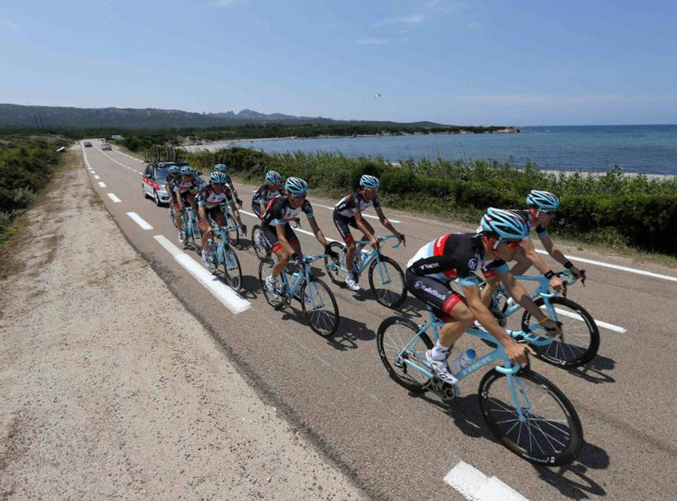 Training for Le Tour in Corsica