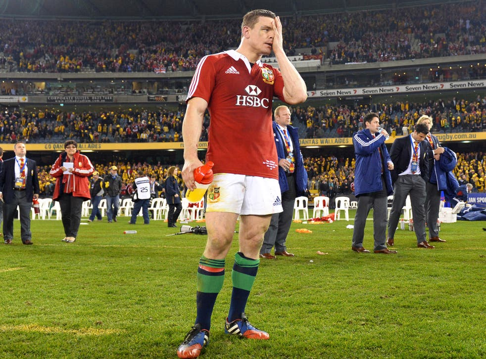 Brian O'Driscoll expresses his disappointment following the 16-15 defeat to Australia