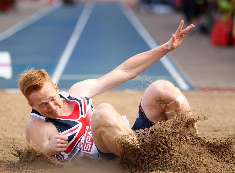 Business end: Greg Rutherford is among a growing crop of British athletes having to look elsewhere for funds