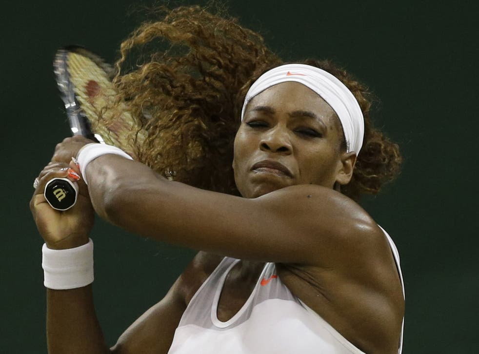 Late show: Serena Williams' match was moved to Centre Court well after 8pm