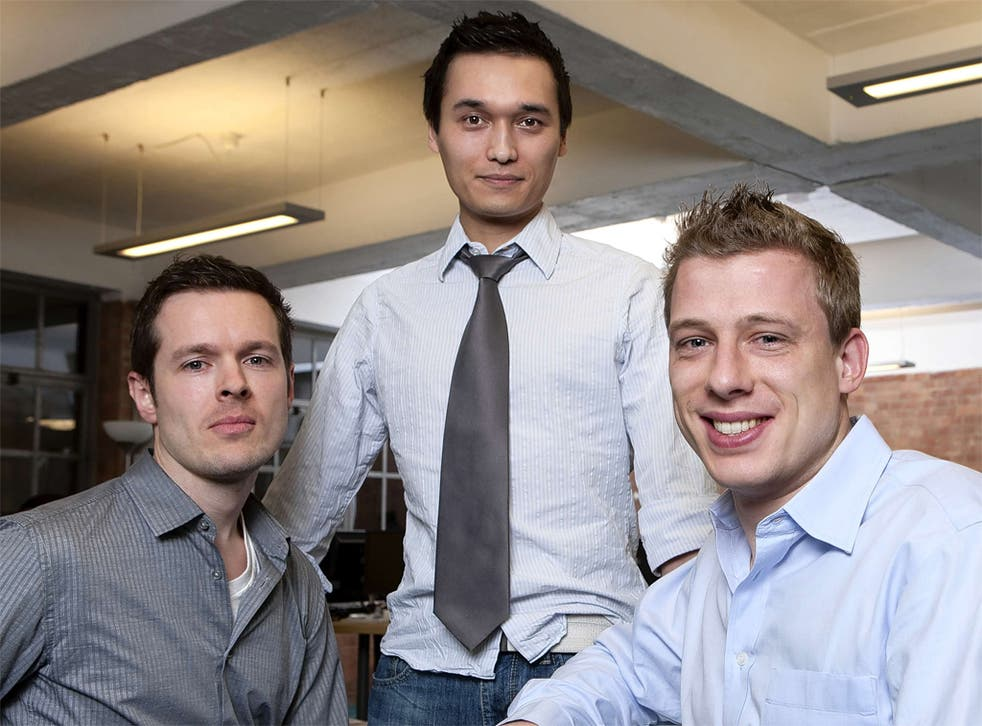 (left to right) Mendeley's Paul Föckler, Dr Victor Henning and Jan Reichelt