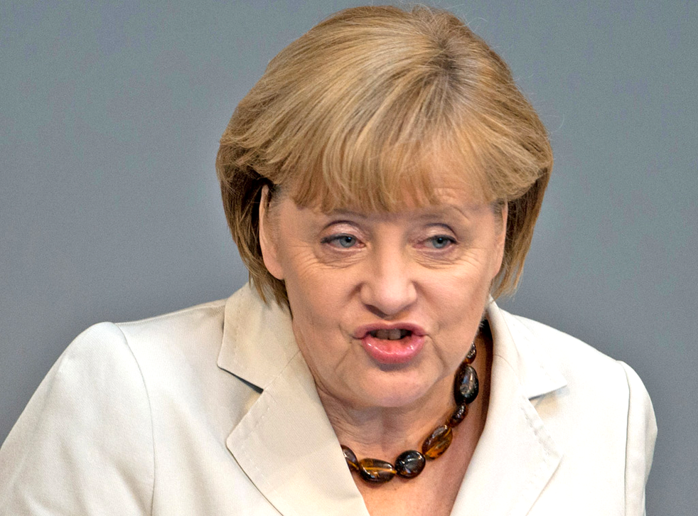 German Chancellor Angela Merkel recently used 'shitstorm' at a recent public meeting