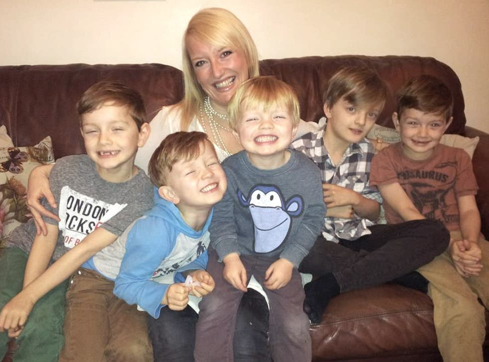 Michelle Priestley and her five boys