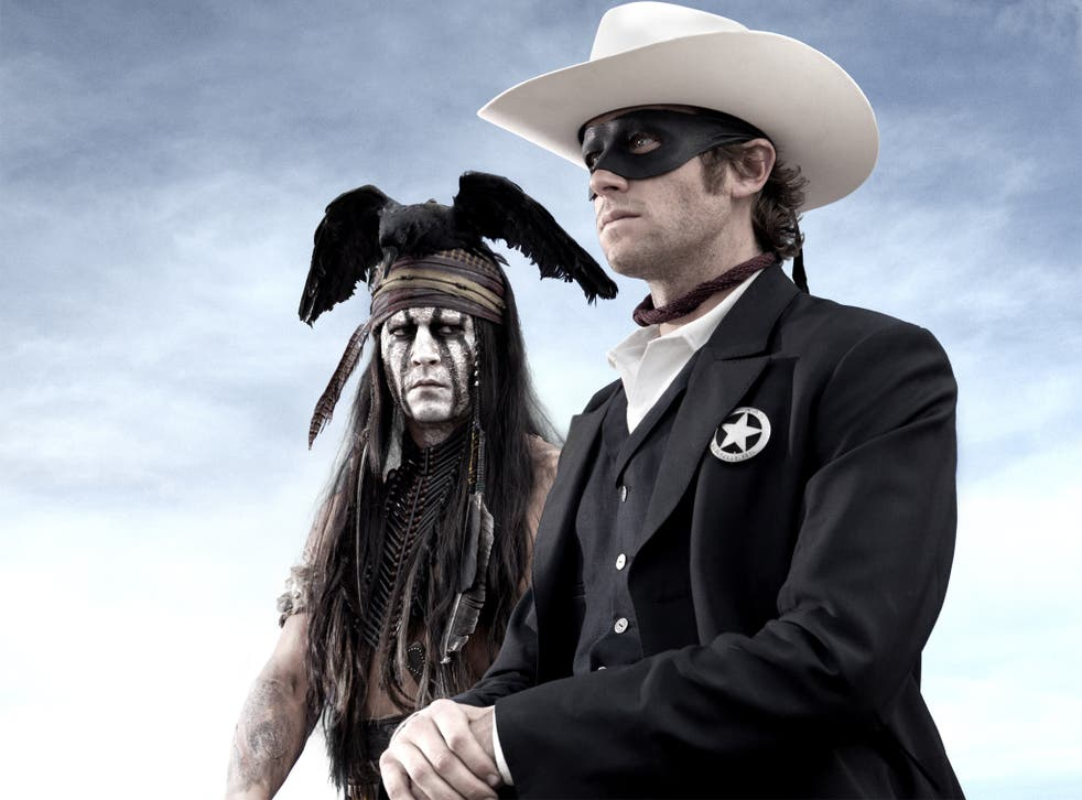 The masked Lone Ranger (Arnie Hammer) and Tonto (Johnny Depp) star in the latest and rather wearying reincarnation
