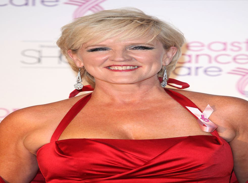 Bernie Nolan arrives for the evening Breast Cancer Care's London fashion show at the Grosvenor House Hotel on 5 October 2011 in London, England. The singer and actress died of the disease today aged 52.