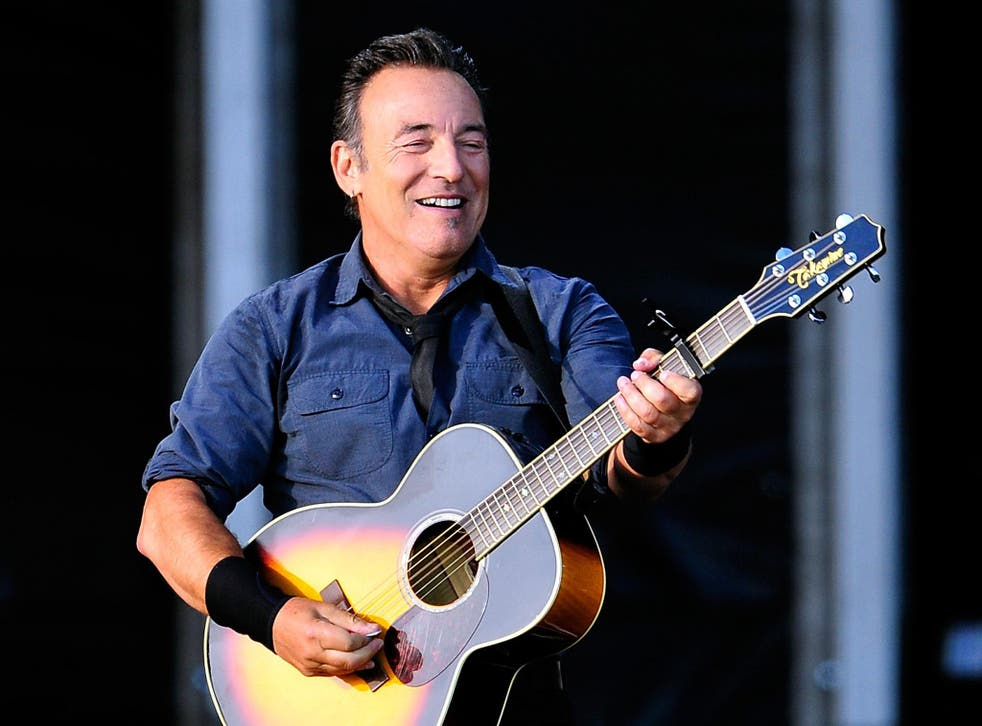 Bruce Springsteen performing at Hard Rock Calling Day 2 at the Olympic Park