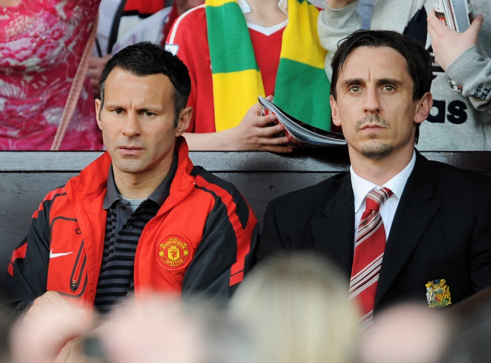 Ryan Giggs and Gary Neville, pictured in 2011, to open a football-themed hotel and a restaurant