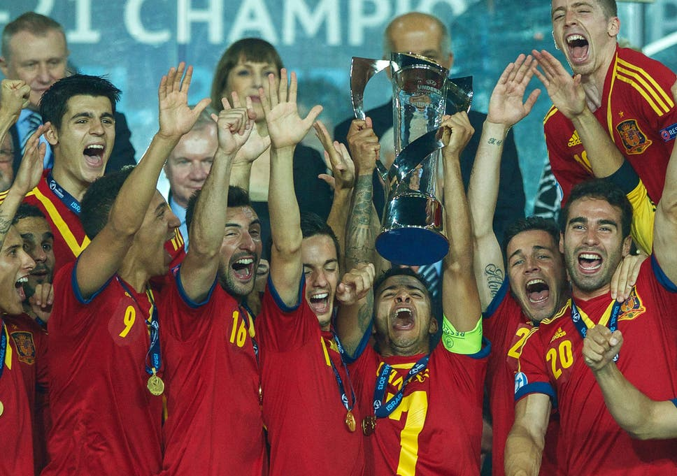 Reign in Spain  The Under-21s celebrate winning the European Championship 5e5d6f64d