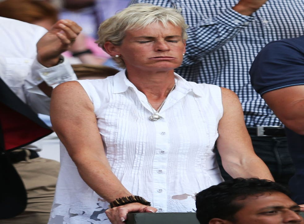 Judy Murray reacts after her son's victory in the Gentlemen's Singles Final match against Novak Djokovic