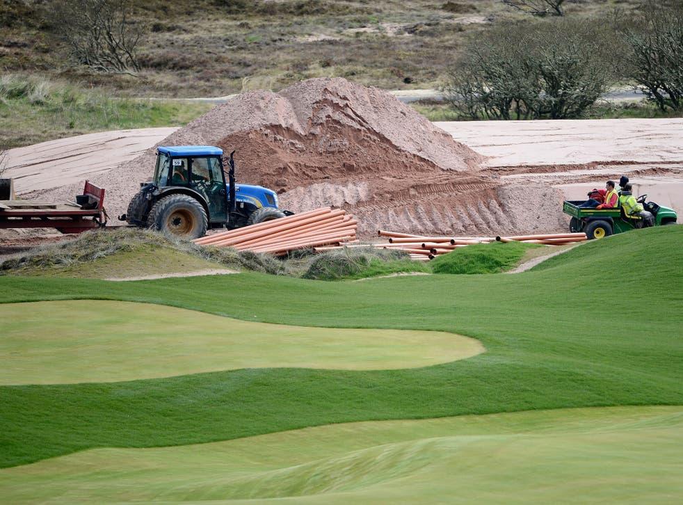 Donald Trump's golf course in Scotland