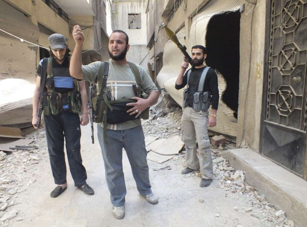 Members of the Free Syrian Army in Homs