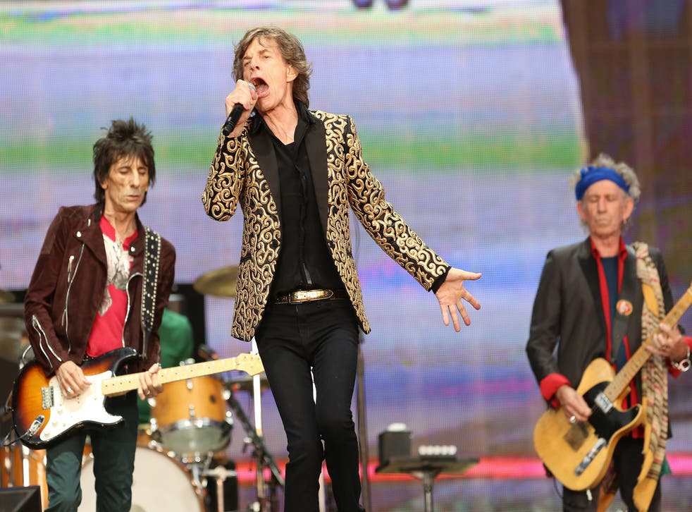 The Rolling Stones perform live on stage during day two of British Summer Time Hyde Park on July 6, 2013