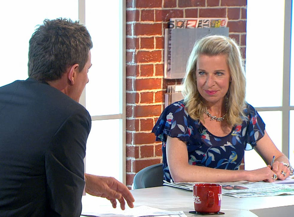 Katie Hopkins speaking on Channel 5's 'The Wright Stuff'