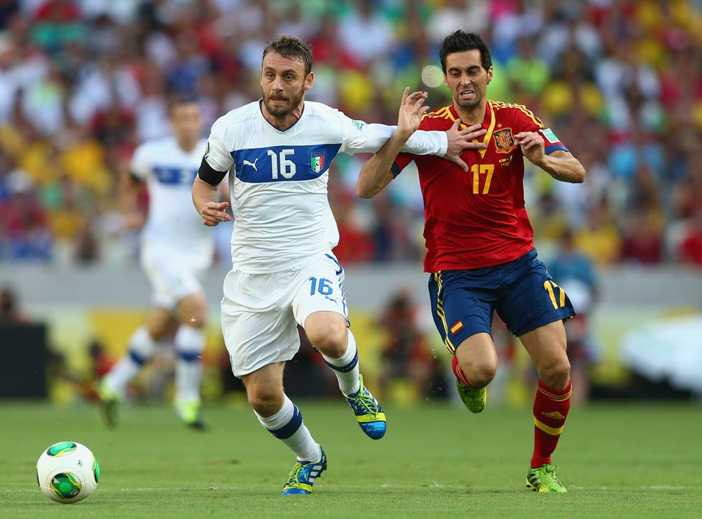 Daniele De Rossi in action for Italy during the Confederations Cup with Spain