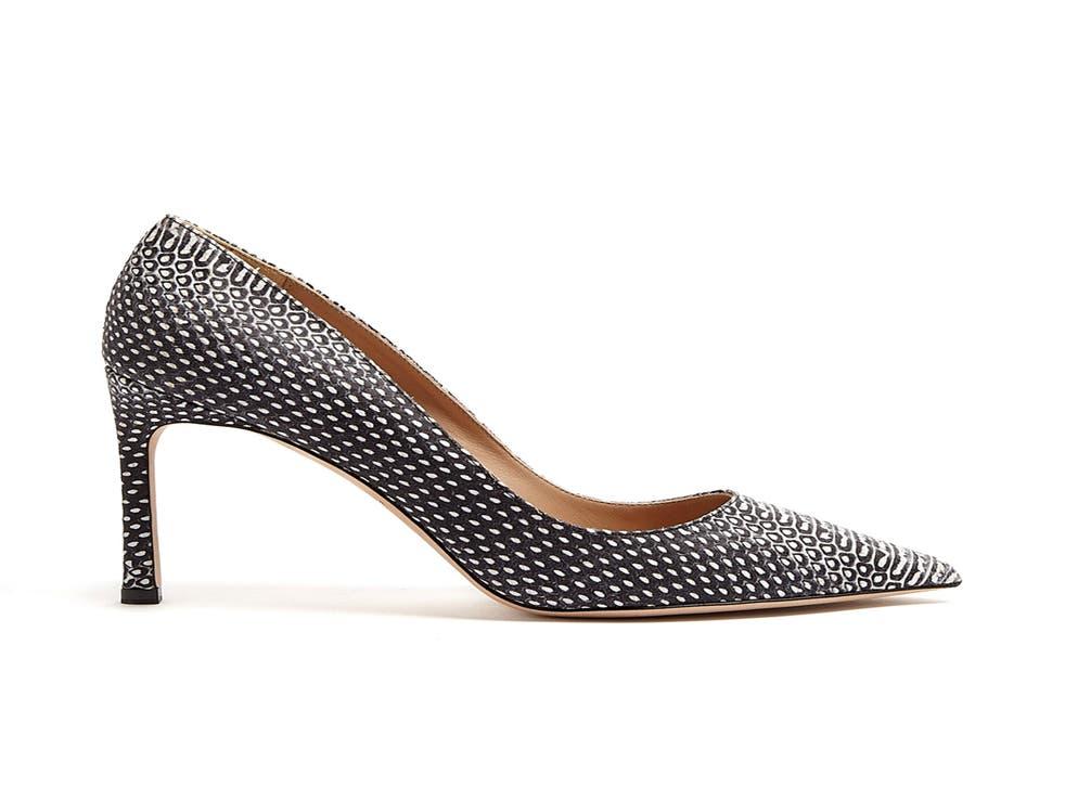 Kurt Geiger's snake-print monochrome Catherine court shoes, £240, kurtgeiger.com