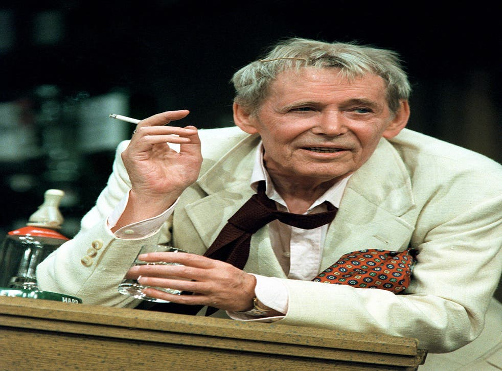 Drained: Peter O' Toole in the one-man playJeffrey Bernard is Unwell, about the late Spectator columnist