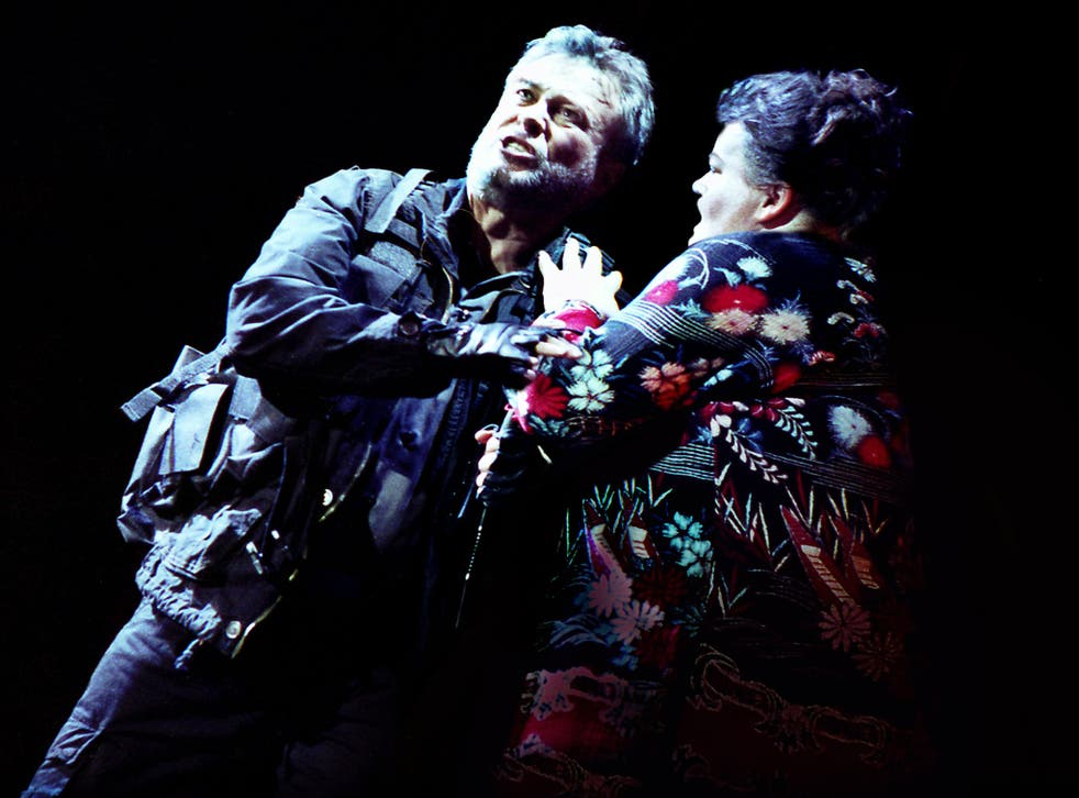 Sleep no more: Quentin Hayes and Miriam Murphy as the Macbeths