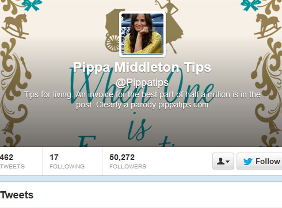 Screengrab of the 'Pippatips' Twitter page.