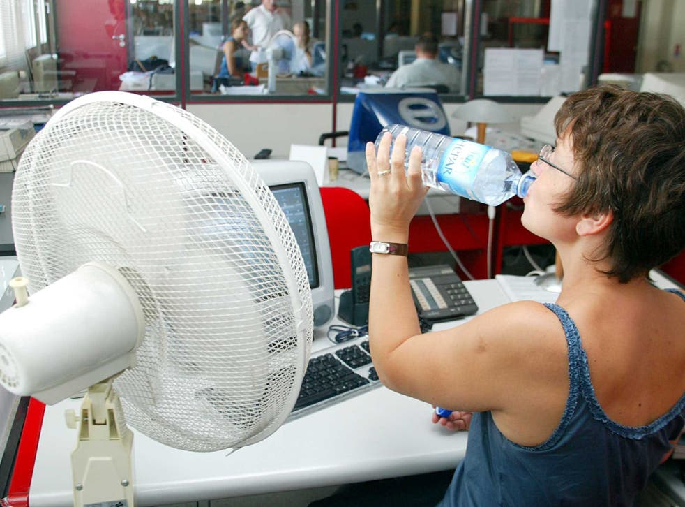 As temperatures soar, offices become increasingly uncomfortable places to work