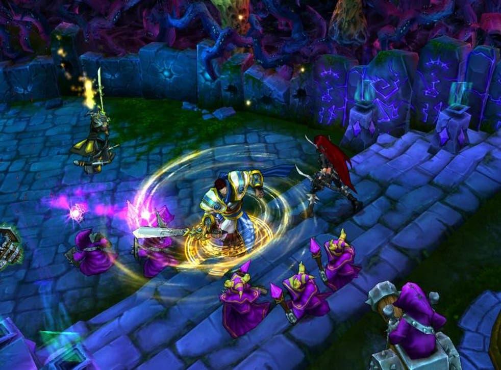 A screenshot from League of Legends showing the champion Garen