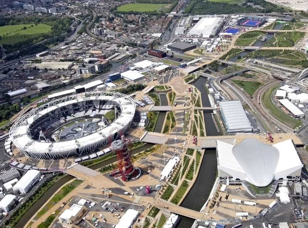 The Olympic Park site in Stratford, East London