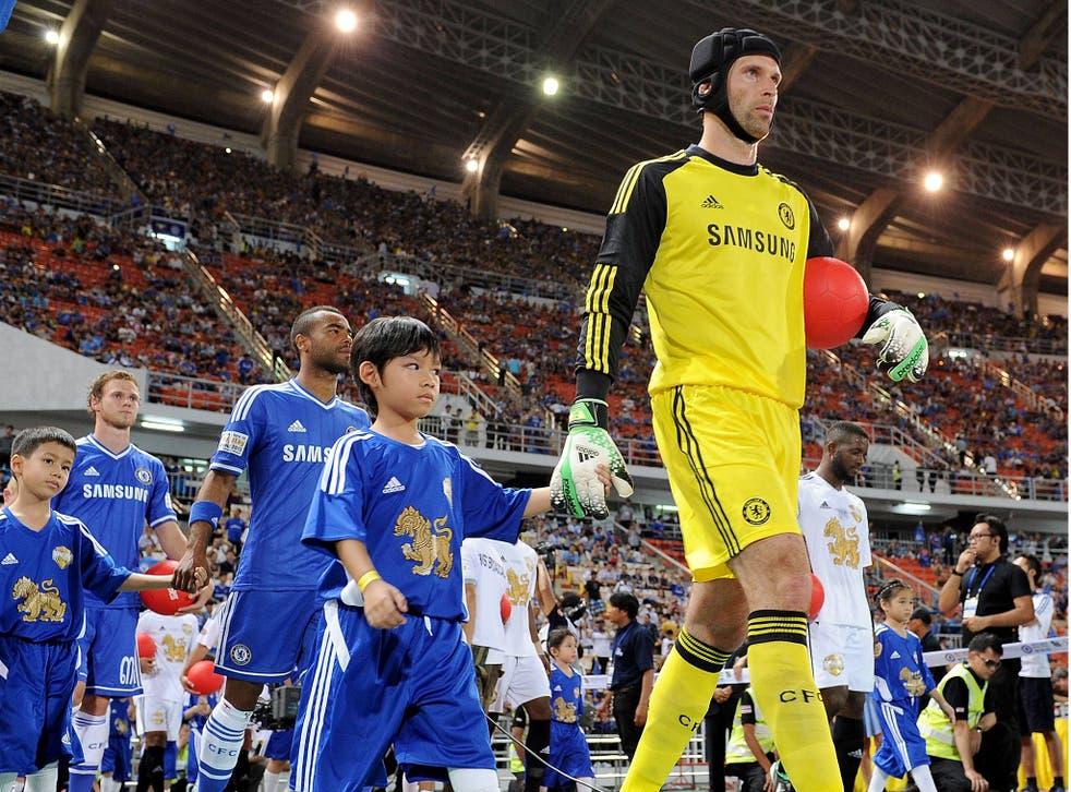 Petr Cech on the pre-season tour