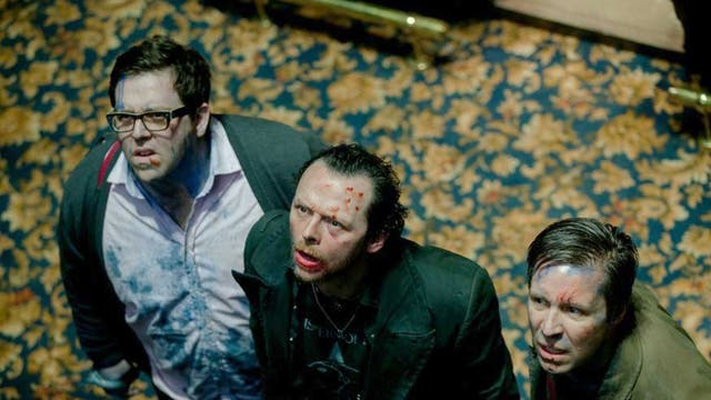 Friends reunited: Nick Frost, Simon Pegg and Paddy Considine in 'The World's End'