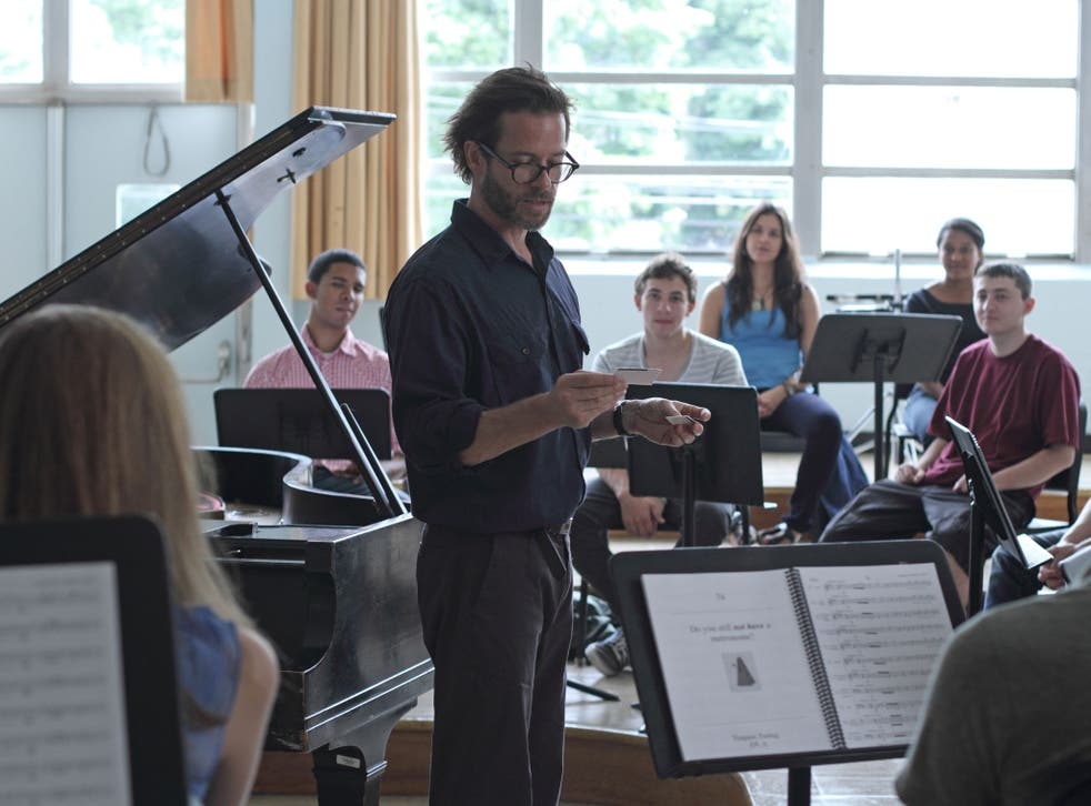 Piano man: Guy Pearce is a married music teacher attracted to a young student in Breathe In