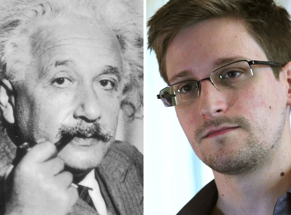 Refugees: Angela Merkel should offer Edward Snowden a safe harbour, just as the US sheltered Einstein from the Nazis