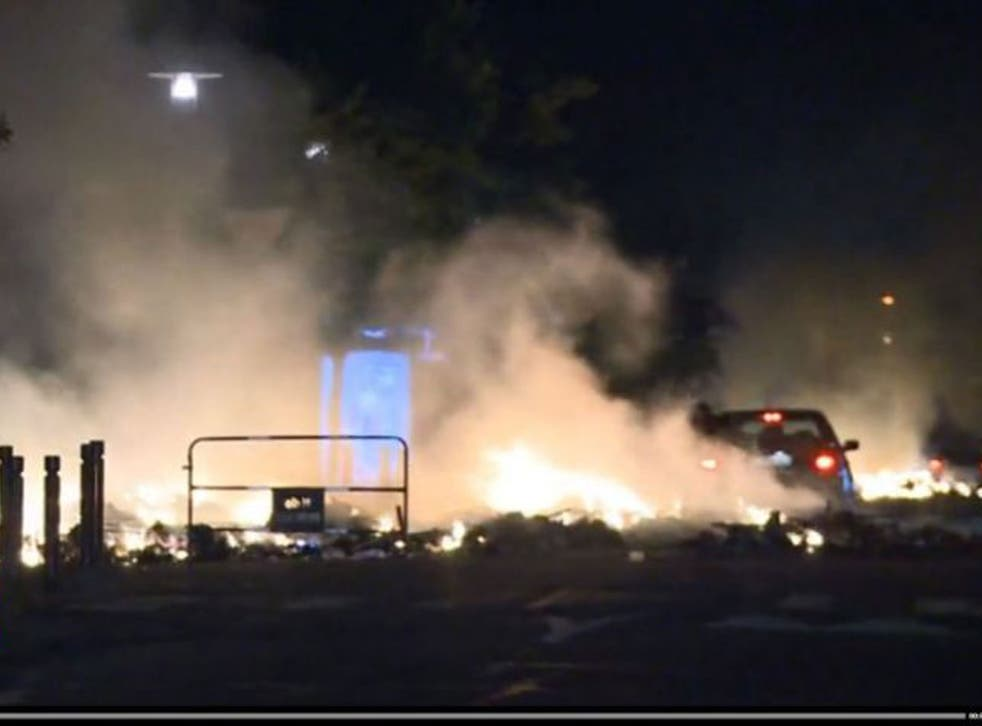 Twenty cars were set alight during a second night of violence in a Paris suburb