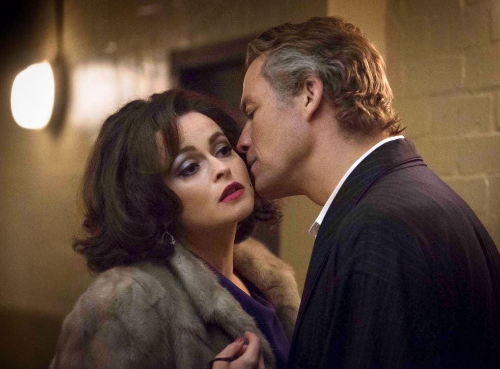 Helena Bonham Carter as Elizabeth Taylor and Dominic West as Richard Burton in BBC4's new  drama 'Burton & Taylor'