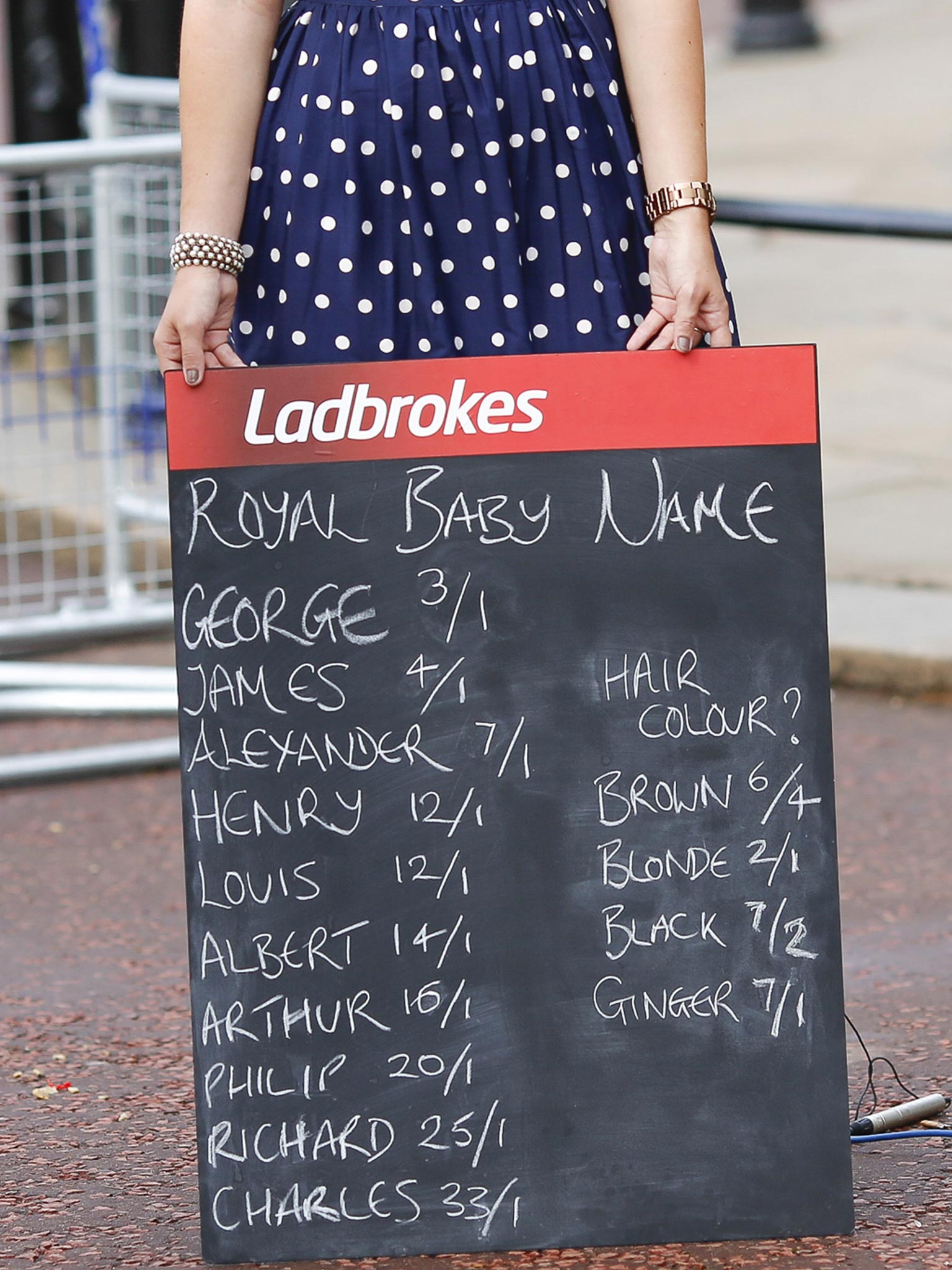 bets on the royal baby name