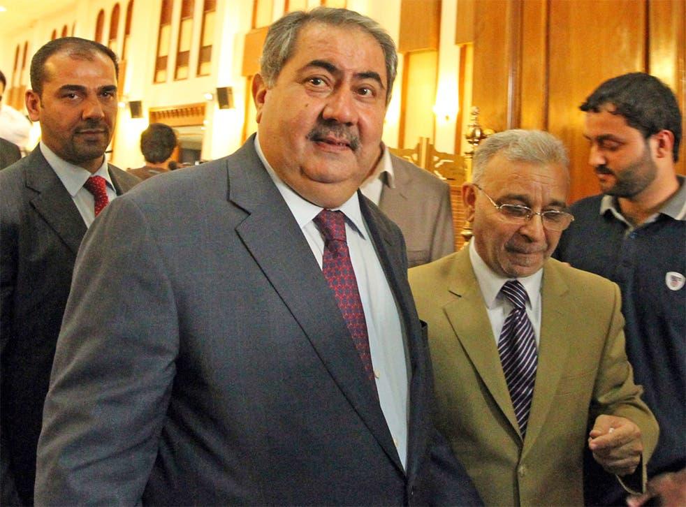 Iraqi Foreign Minister, Hoshyar Zebari (centre)