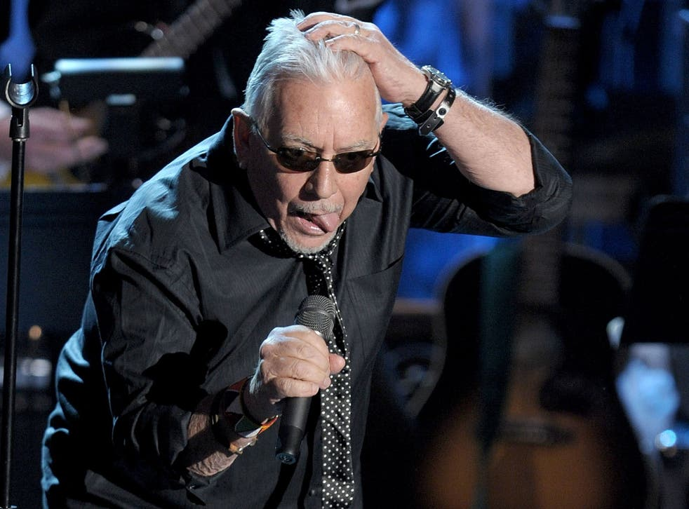 Eric Burdon on stage at the 25th Annual Rock And Roll Hall of Fame Induction Ceremony in New York in 2010