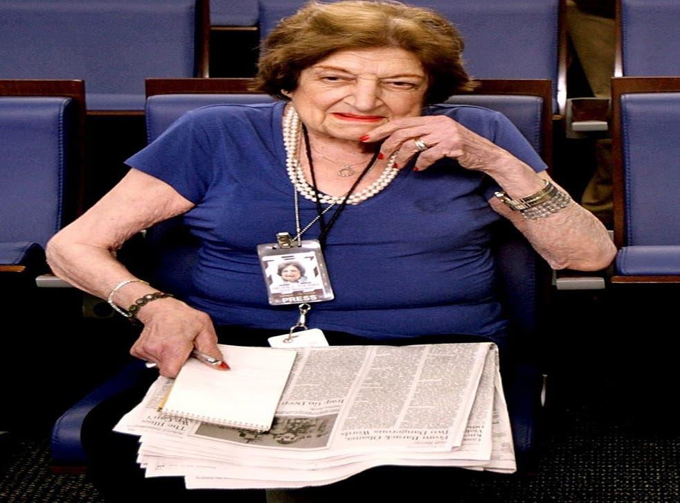 Exceptionally tenacious: Helen Thomas