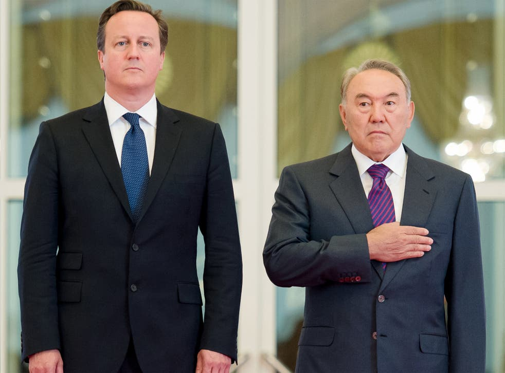 Kazakh President welcomed David Cameron to Astana earlier this month