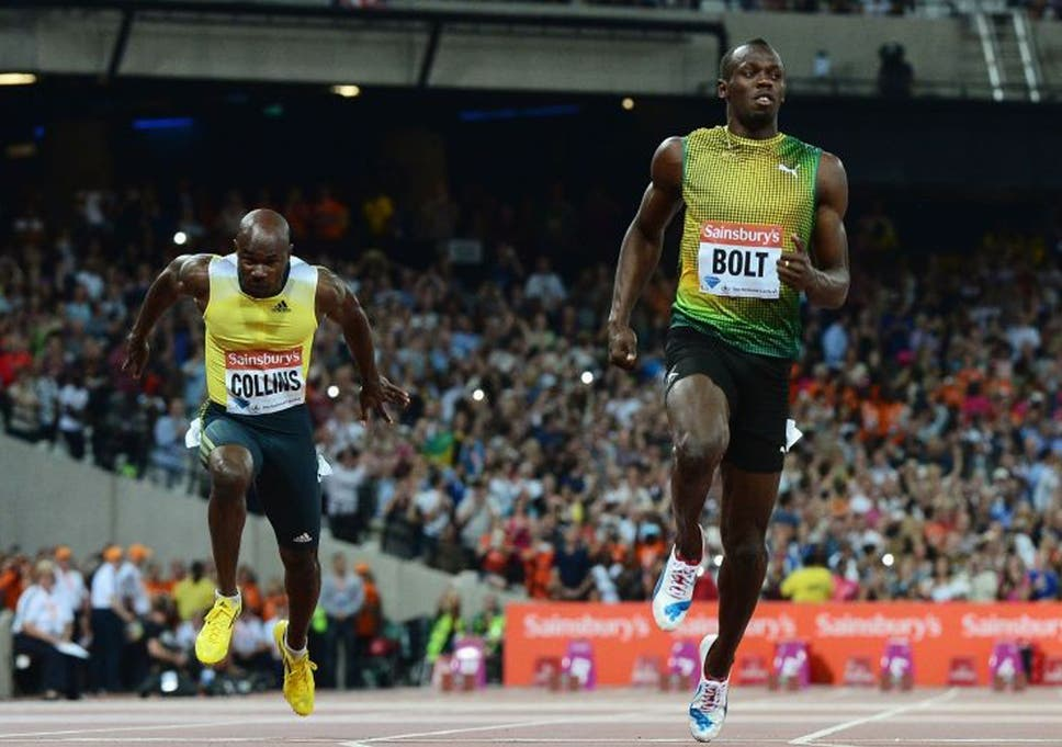 fad249150c London Olympic Anniversary Games: Usain Bolt sets year's fastest time in  100m win