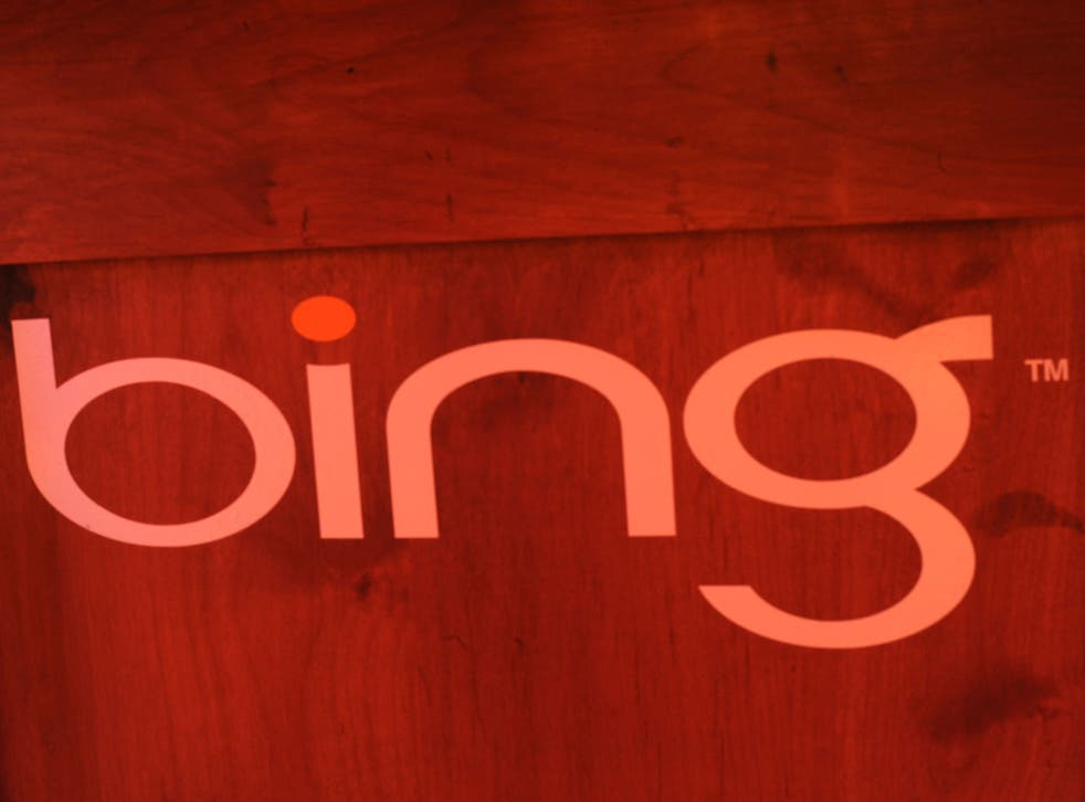 Bing will introduce pop up warnings on sites containing illegal images on Saturday